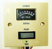 Battery Condition / Pump Switch Beige CLIPSAL